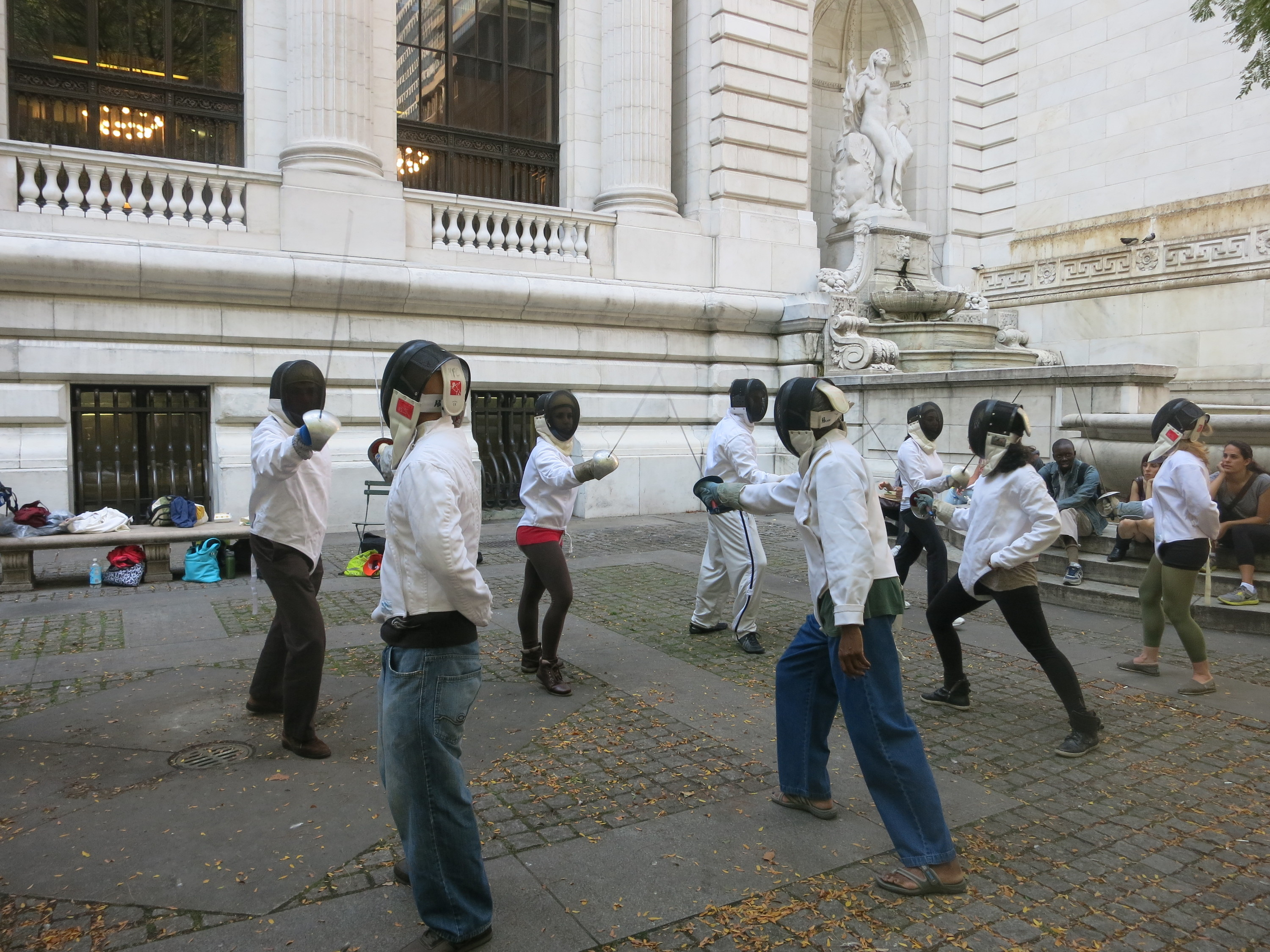 Fencing Lessons In Bryant Park Things To Do In New York