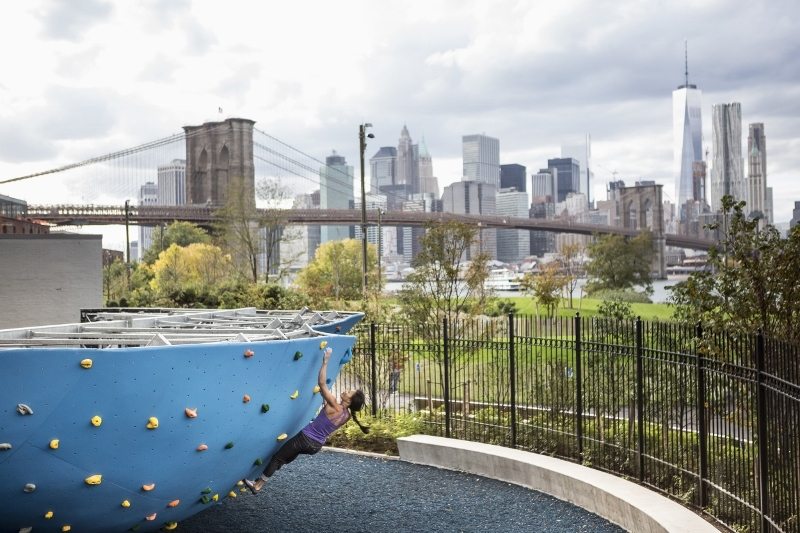 The largest outdoor climbing gym in North America opens next week in DUMBO