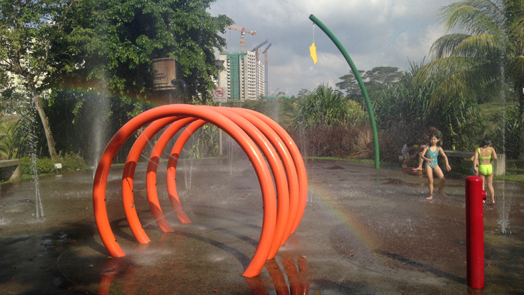 Punggol Waterway Park water playground