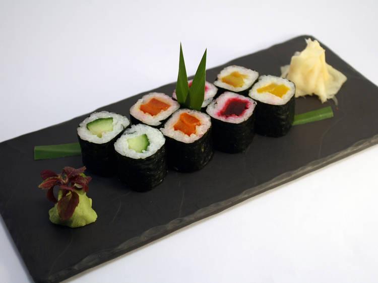 Children's sushi master class at Inamo Camden