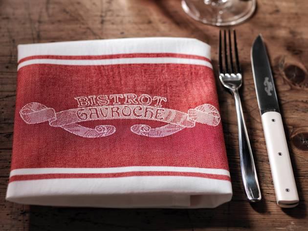Bistrot Gavroche napkin and silverware