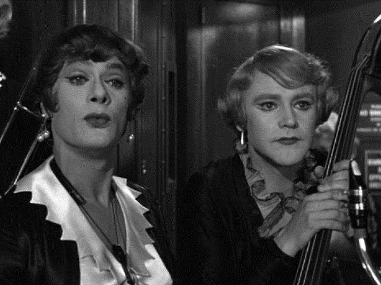 Jack Lemmon et Tony Curtis dans 'Certains l'aiment chaud'