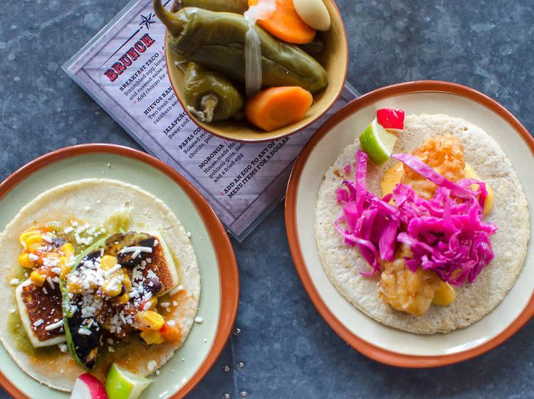 Carnitas taco at Lone Star Taco Bar