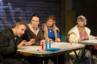Good People 2016 Ensemble Theatre production image feat L-R Drew Livingston Tara Morice Jane Phegan and Gael Ballantyne photographer credit Clare Hawley