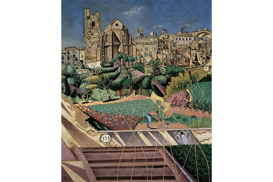 Mont-roig, l'església i el poble (1918-1919)