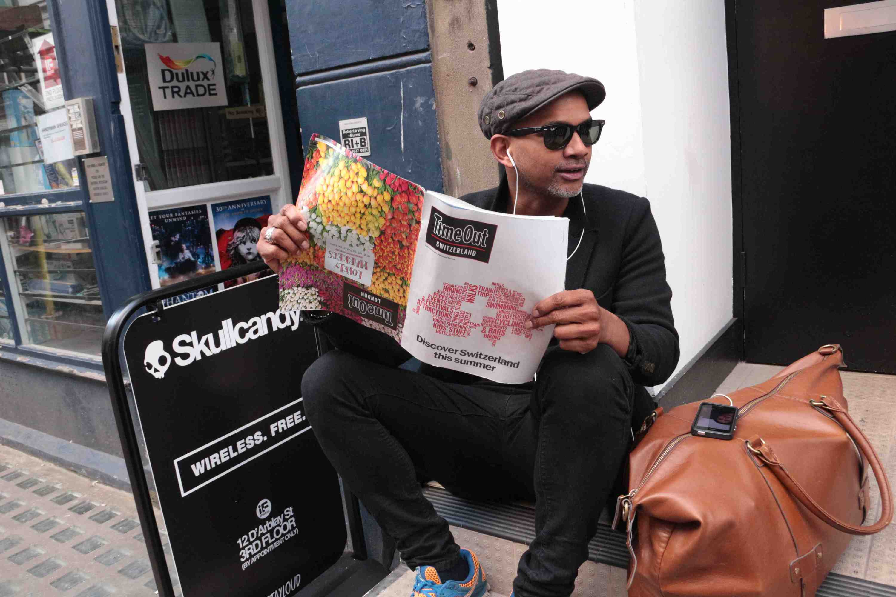 A Soho local checks out the Swiss special of Time Out