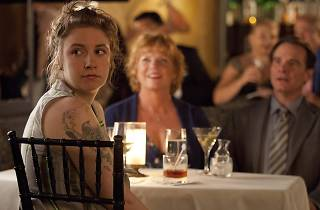 Hannah dines with her parents in HBO TV show, 'Girls'