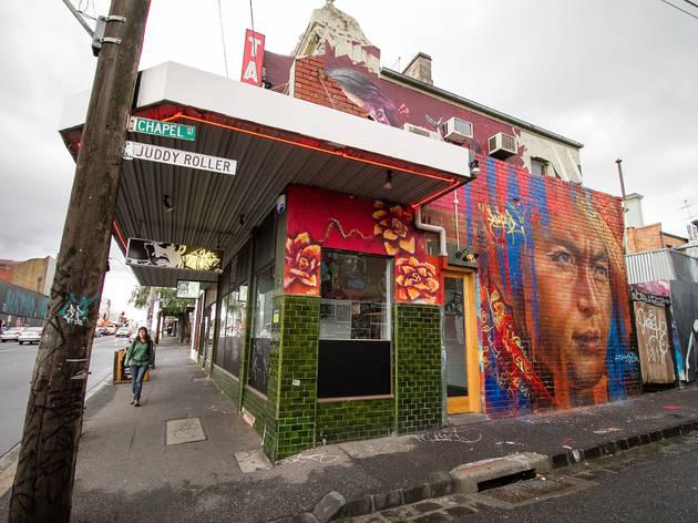 Graffiti outside Bar Liberty