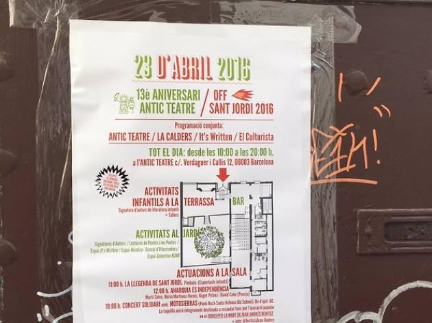 Sant Jordi 2016: 13è aniversari Antic Teatre + Off Sant Jordi