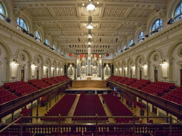 Sydney Town Hall 2010 interior Centennial Hall and organ image (c) City of Sydney photographer credit Paul Patterson