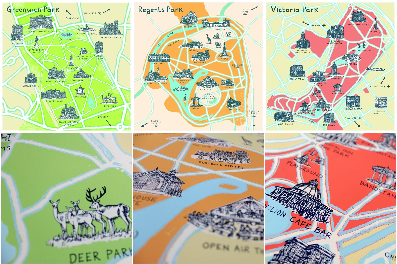 A whistle-stop tour of Simon Fitzmaurice's London park illustrations