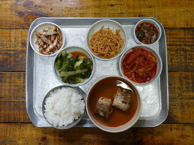 Korean meal sets at Su-Ryun Jip