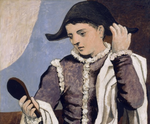Pablo Picasso, Harlequin with a Mirror