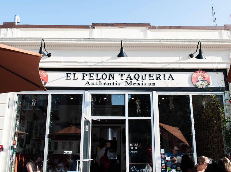 Caramelos taco at El Pelón Taqueria