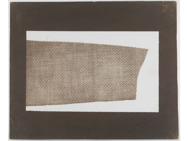 (William Henry Fox Talbot: 'Cloth with Geometric Pattern'. © National Media Museum)