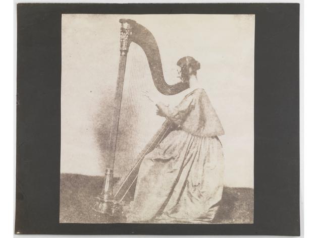 (William Henry Fox Talbot: 'Horatia Feilding, Talbot's Half-Sister, at her Harp'. © National Media Museum)