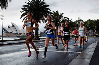 Runners leading the race at Sydney Half Marathon