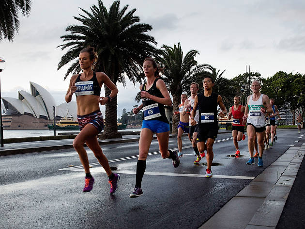 Runners leading the race at Sydney Half Marathon