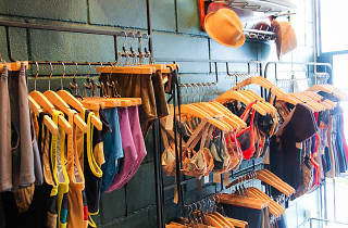 A rack of swimsuits at virgin daisies