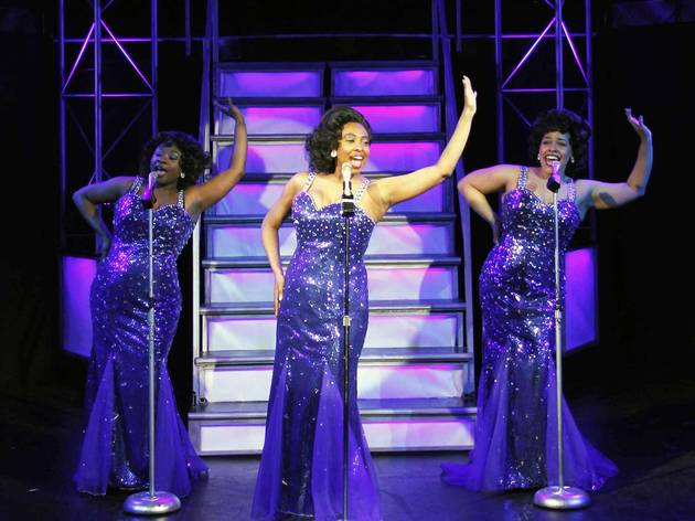 Donica Lynn, Candace C. Edwards and Katherine Thomas in Dreamgirls at Porchlight Music Theatre