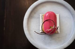 pink dessert at Koi