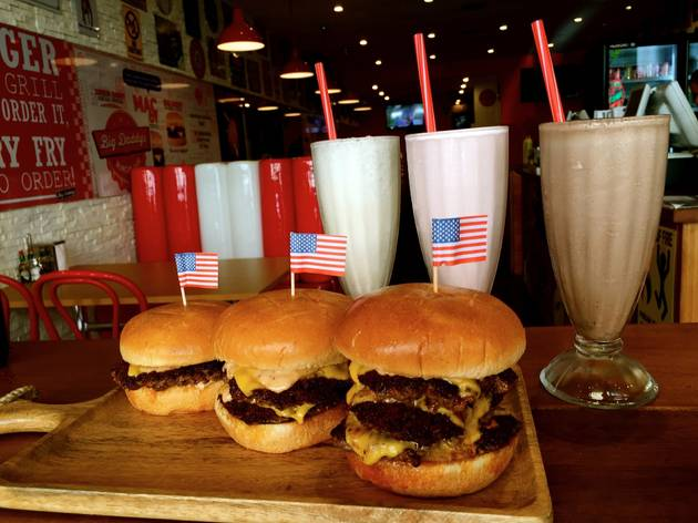 burgers and shakes from Big Daddy's Burger Bar