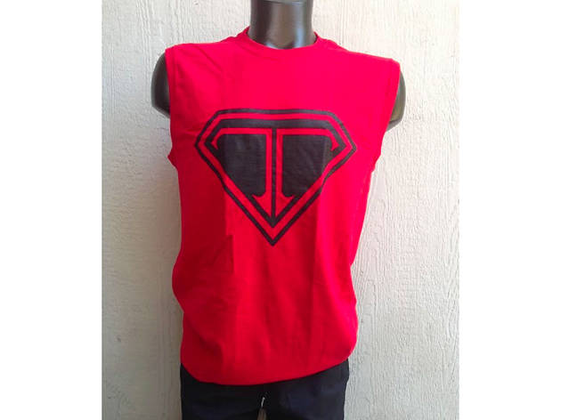 Super Stealth Muscle Tee Red from Point 5cc
