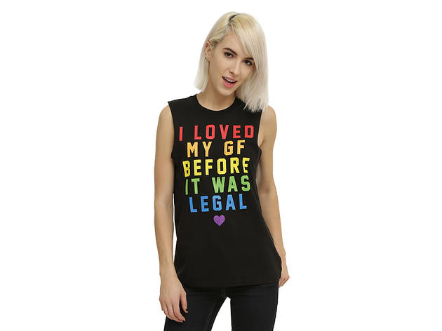 Loved My GF Before It Was Legal Girls Muscle Top from Hot Topic