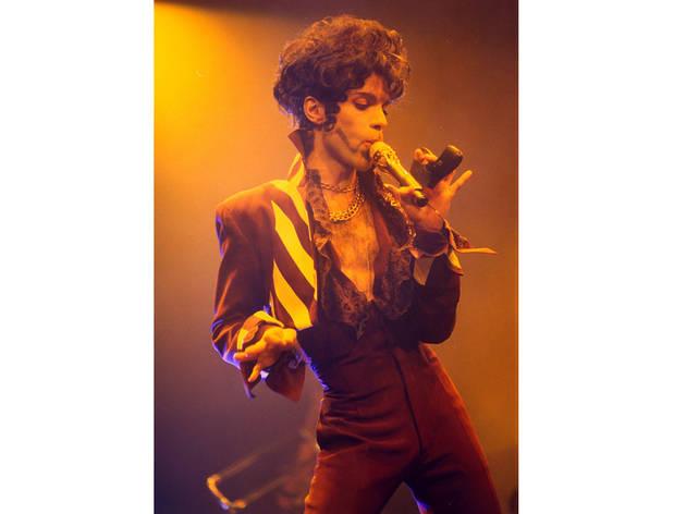 Prince performing in Birmingham, Britain, 1993