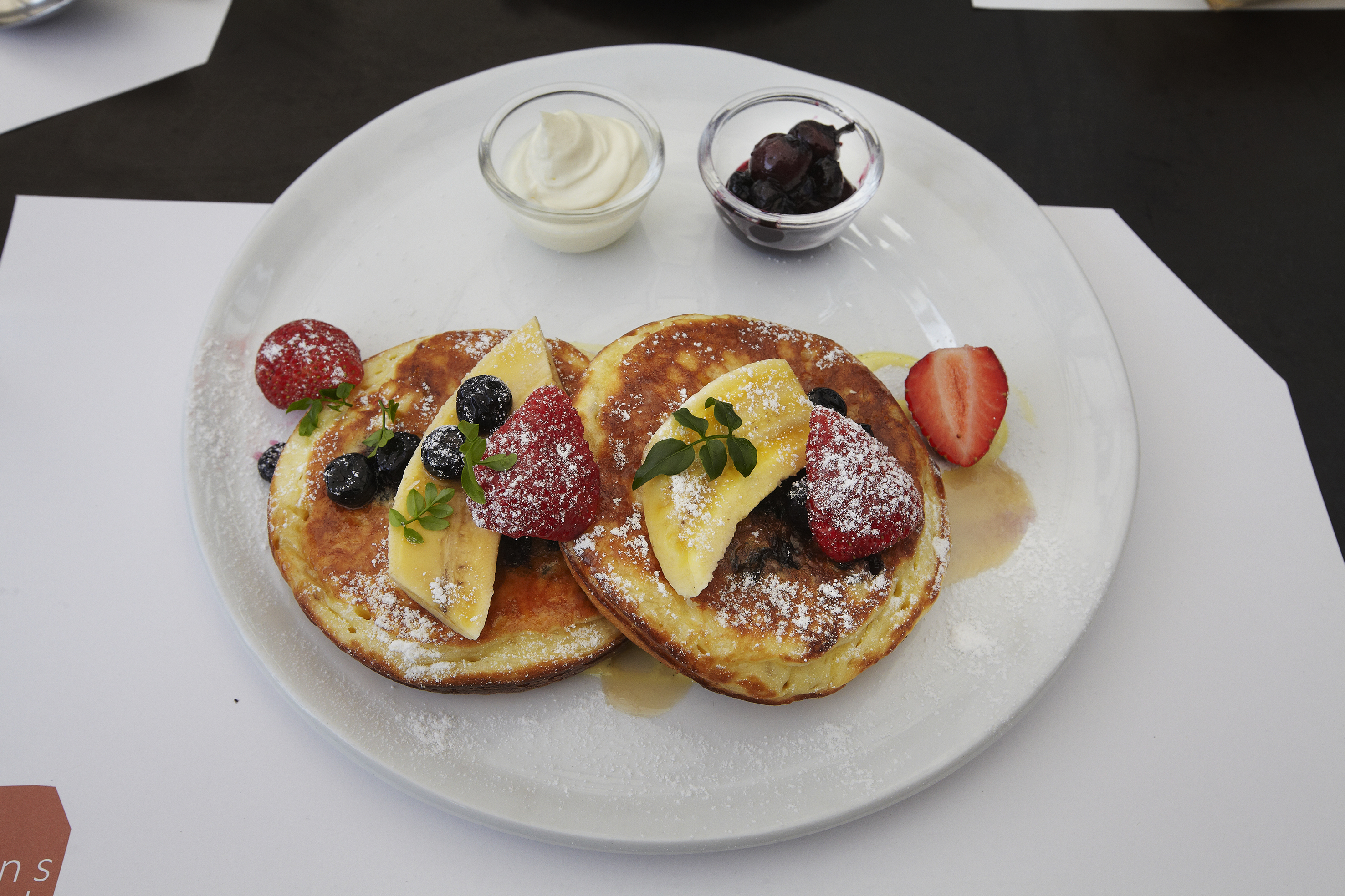 Blueberry pancakes of The Queens Park