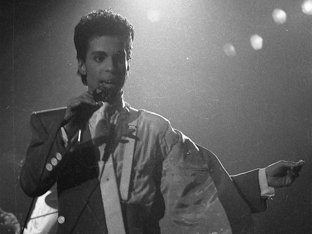 Prince on stage in 1986