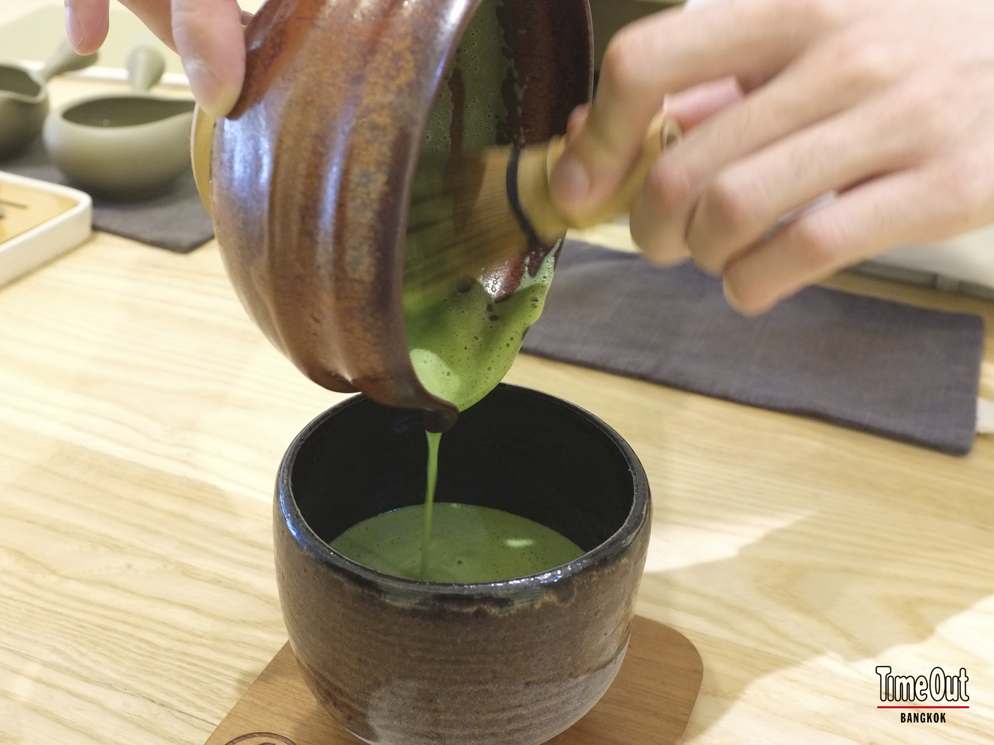 a matcha green tea at Peace – Oriental Teahouse