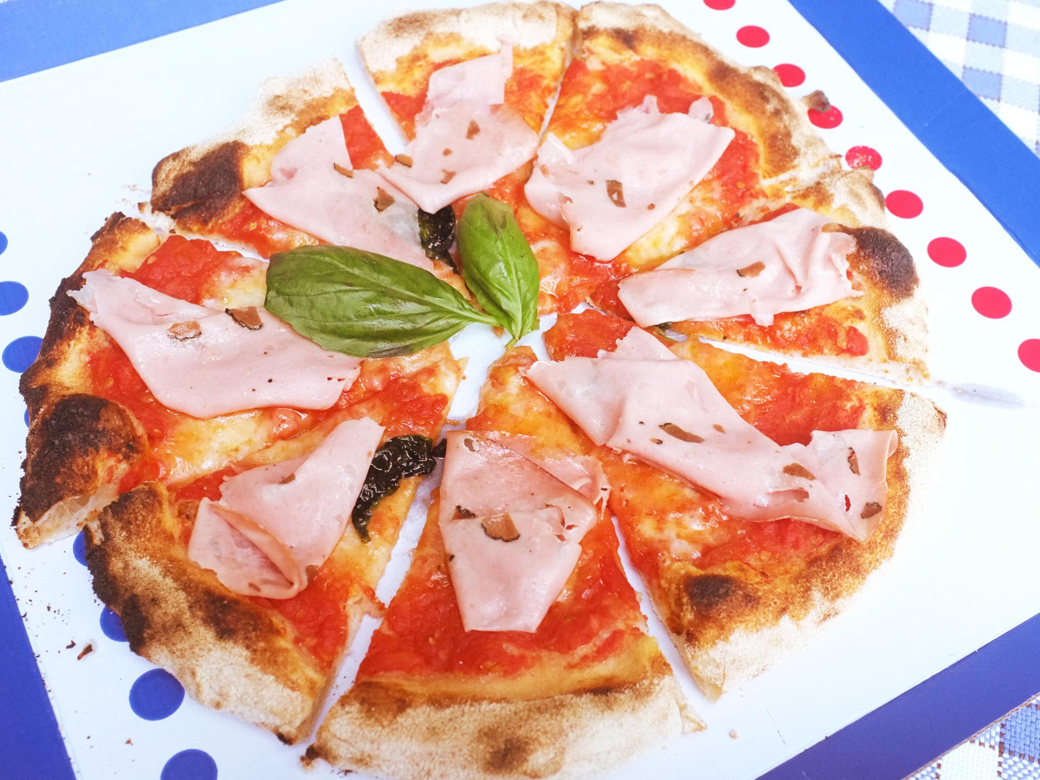 a pizza at Pizza Massilia