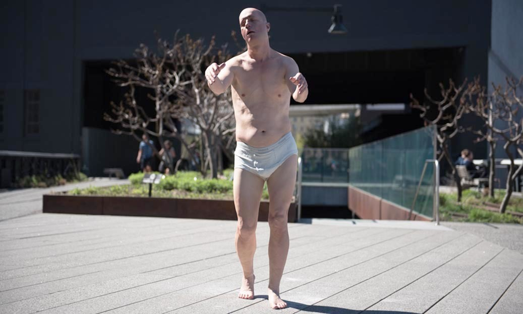 Controversial sleepwalker sculpture wakes up the High Line