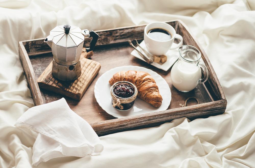 El desayuno, en la cama