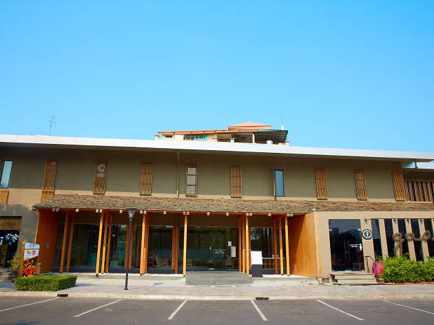 building of yunomori onsen & spa
