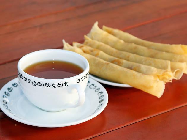 Pancake and tea