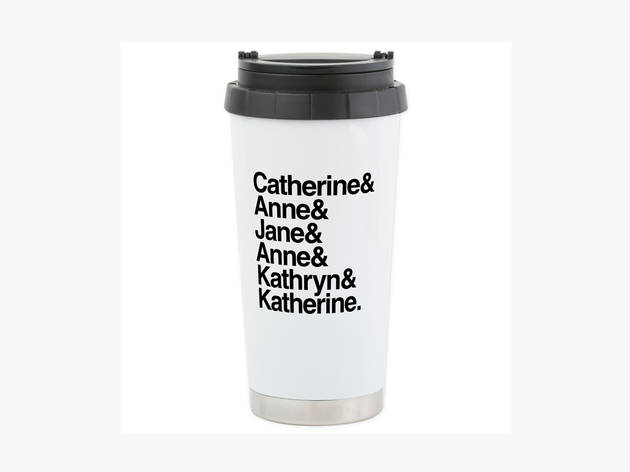 CafePress Henry VIII wives travel mug