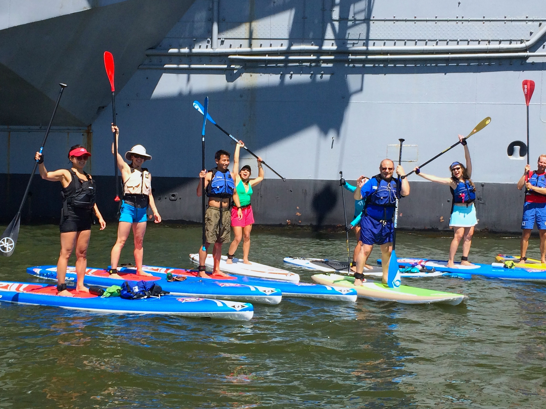 Kayak or paddleboard on the Hudson River