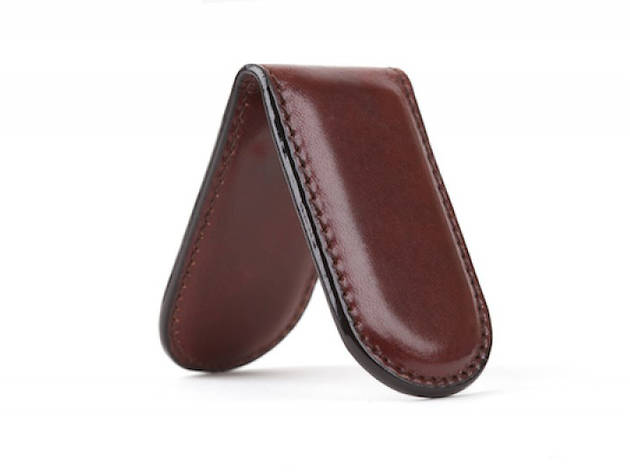 Bosca leather magnetic money clip