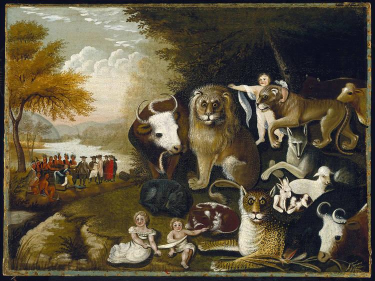 Edward Hicks, The Peaceable Kingdom, ca. 1833-1834