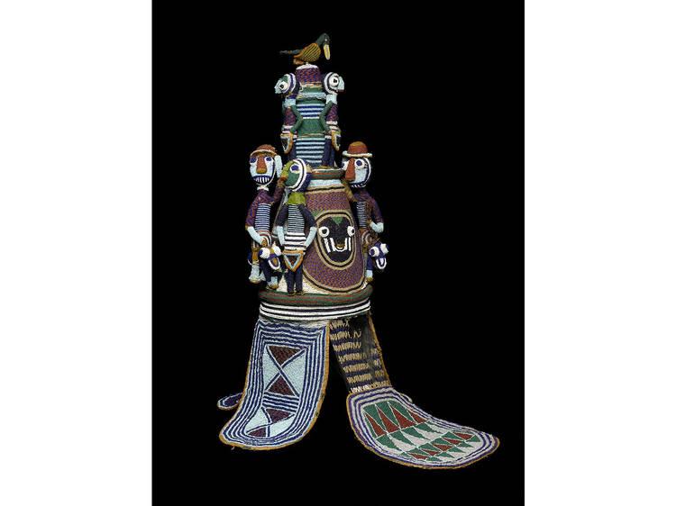 Yoruba. Beaded Crown (Ade) of Onijagbo Obasoro Alowolodu, Ògògà of Ikere 1890-1928, late 19th century