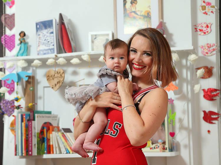 Liz Cahalan and Rose, four months