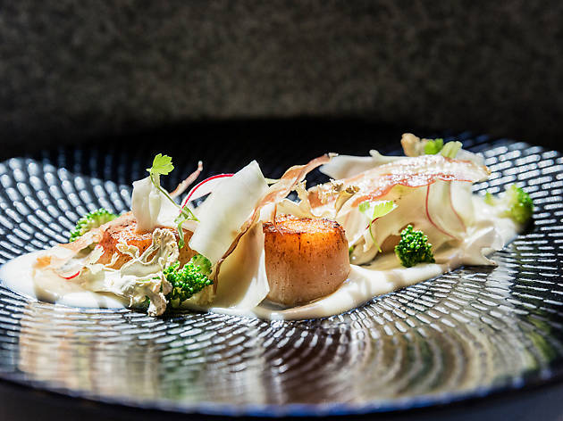 A high-end dish of scallops from Abode Bistro and Bar