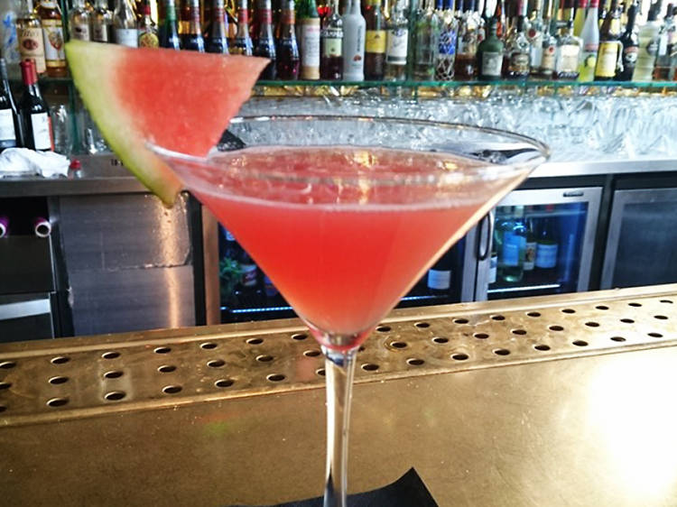 Skinny Watermelon Martini at Christopher's