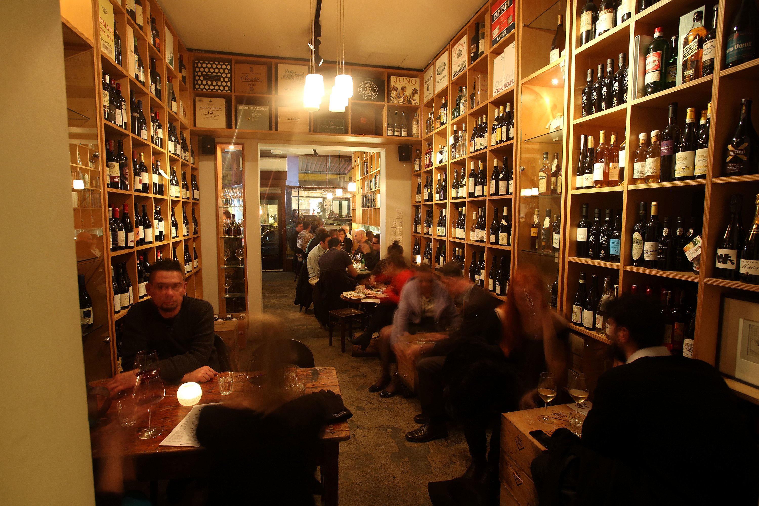 The interior of Fitzroy wine bar Gertrude Street Enoteca