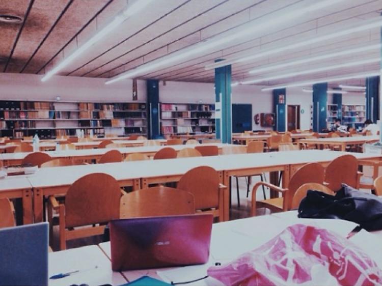Biblioteca de la facultat d'Economia de la UB