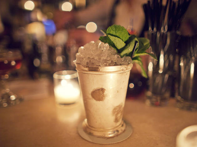 Mint julep at Maison Premiere