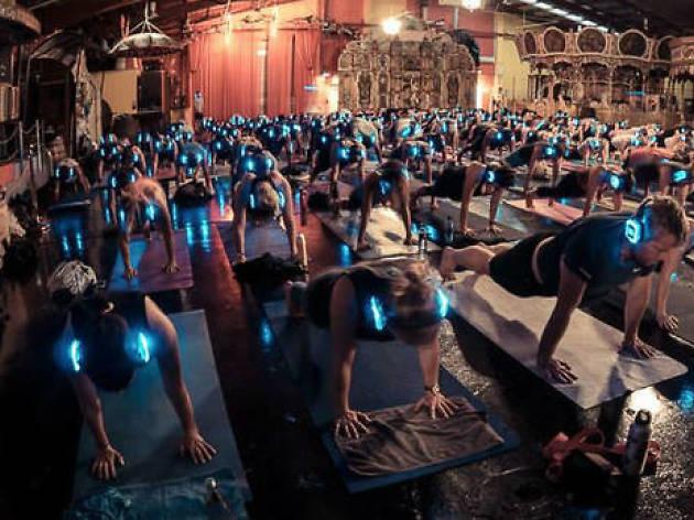 Flow After Dark silent yoga disco