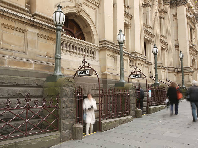 Public toilets at the Melbourne Town Hall